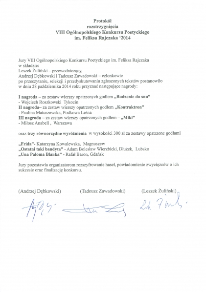 Protokol F. Rajczak