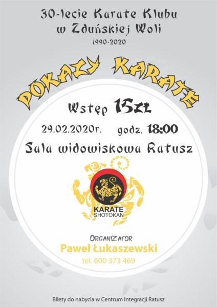 30-LECIE KARATE KLUBU W ZDUŃSKIEJ WOLI 1990-2020 @ PL. WOLNOŚCI 26