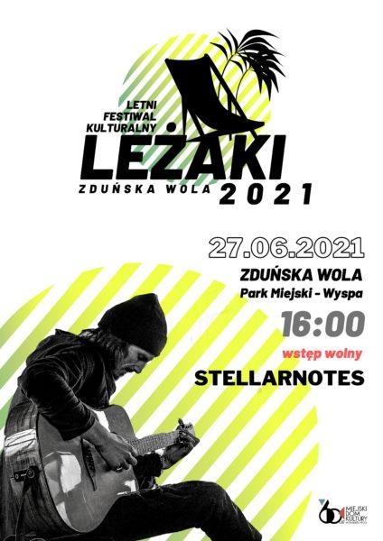 """KONCERT STELLARNOTES - LETNI FESTIWAL KULTURALNY ,,LEŻAKI 2021"""" @ PARK MIEJSKI, WYSPA"""